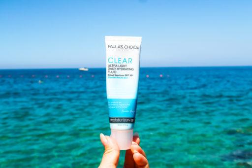 paula's choice clear ultra-light fluid spf 30, sunscreen for acne-prone skin, do i need to wear sunscreen, clear skin, olena, acne blog, best acne blog