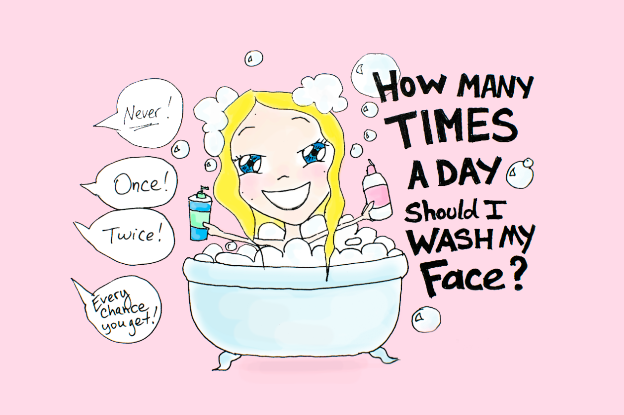 how many times should I wash my face? face washing, pimples, how to cure acne